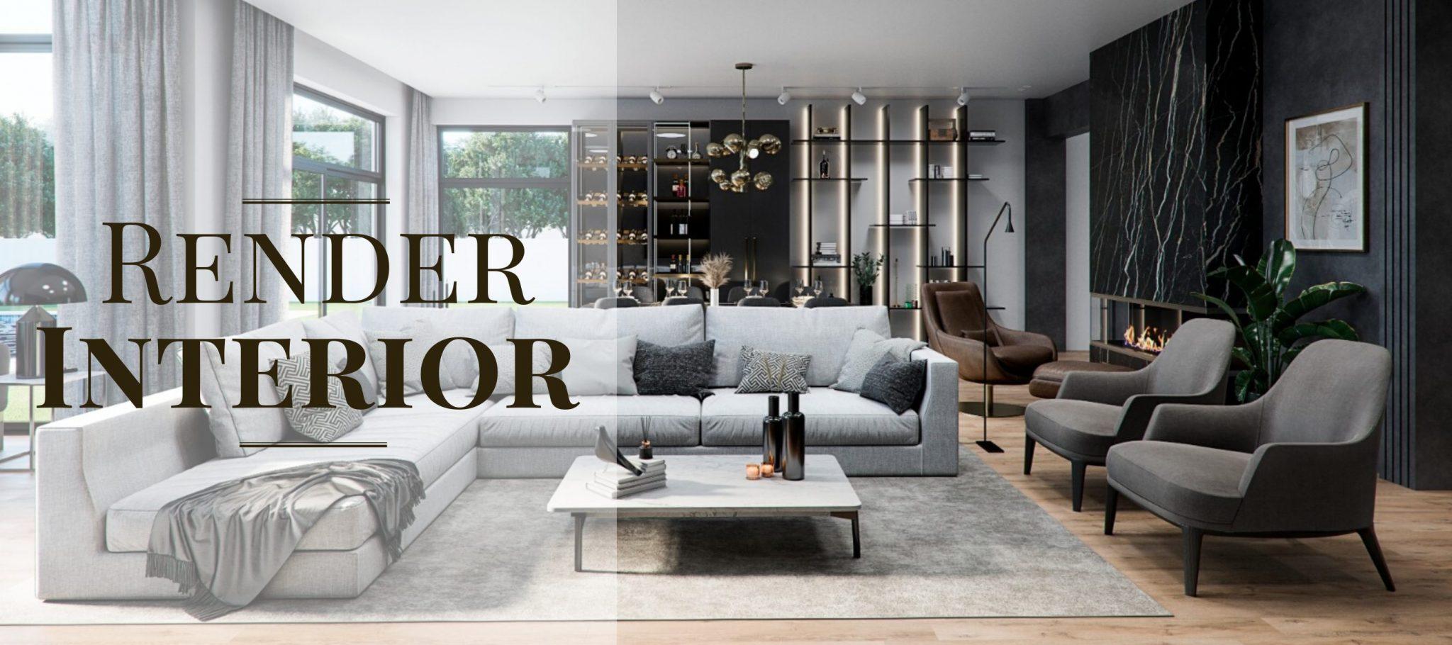 render interior - arquitectura 3d