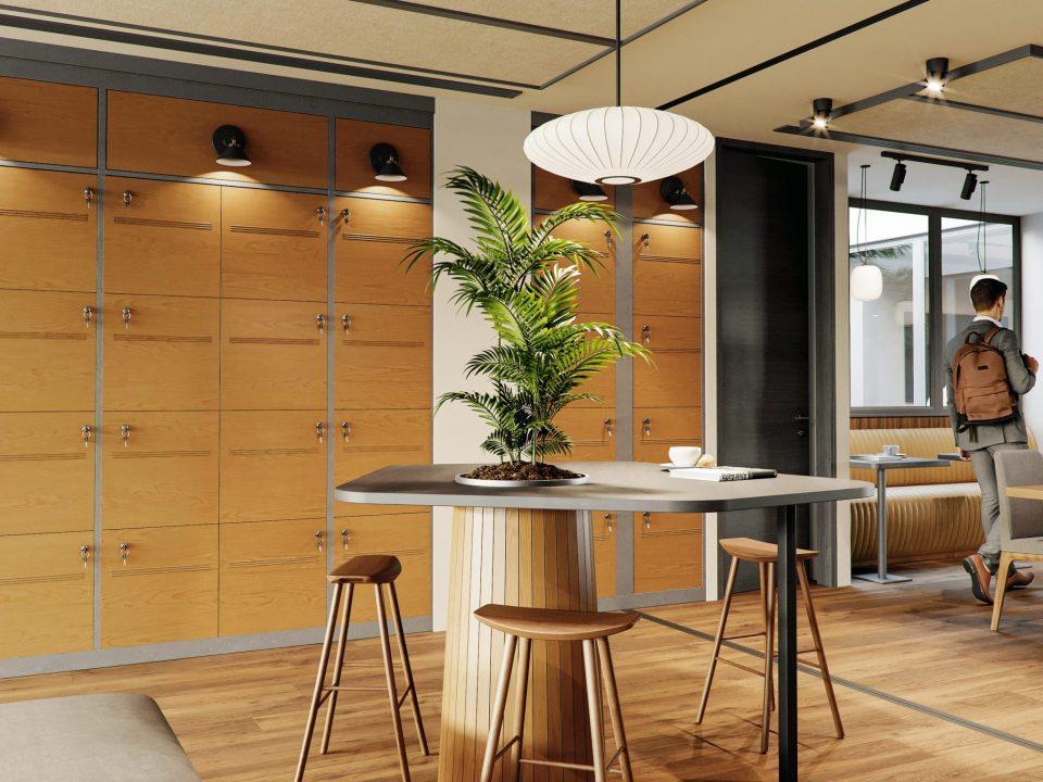 Render interior coworking